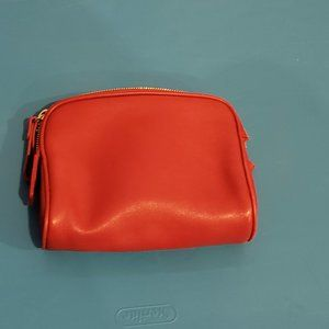 Coach leather red makeup case